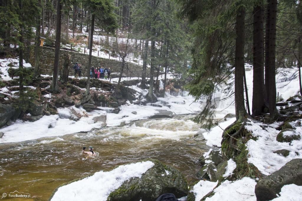 Harrachov – Kąpiel pod Wodospadem Mumlavy