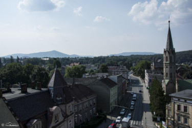 003 Widok z Wieży Bramy Górnej na Góry Opawskie