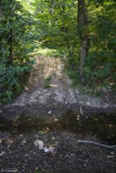 014 Przejście przez strumyk na zarośniętą ścieżkę