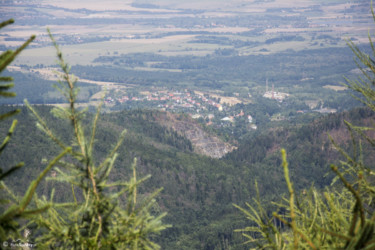 030 widok z wieży na Złoty Stok i Kamieniołom pod Krzyżnikiem