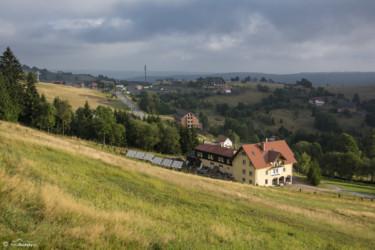 036 Panorama Zieleńca - widok ze stoku narciarskiego