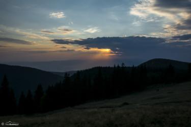 123 Zachód słońca - widok z Hali Pod Śnieżnikiem