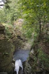 140 Widok z mostku nad Wodospadem Wilczki